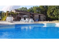 SW France - family villa with private pool. Autumn HALF PRICE.