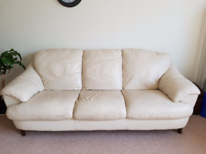 MOVING SALE: BONDED LEATHER SOFA $199 OR BEST OFFER