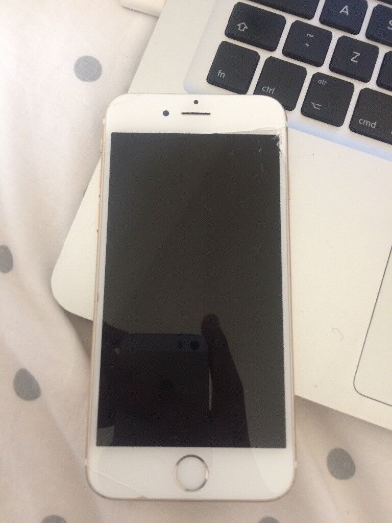 iPhone 6 16gbin Halifax, West YorkshireGumtree - iPhone 6, 16gb on Vodaphone. The phone has a crack on the screen but works perfectly. The thumb scanner also doesnt work. Hence the price. £120. Open to sensible offers. Call on 07387660989. Original Charger included