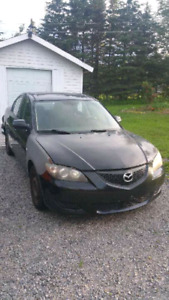 2004 Mazda 3 for parts or repair,lots of new parts and tires