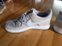 Nike Air forces. Like New. Cream & white. Rarely used