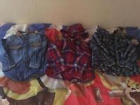 Boys check shirts mint condition