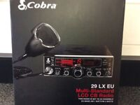 Brand New , Cobra 29 Lx EU/UK CB Radio 40 Channel AM/ FM European Standard Multi LCD