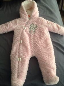 Pink bunting suit