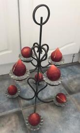 Beautiful wrought iron candle holder and candles