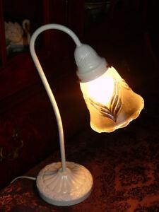 "Splendide lampe blnche16"" style Tiffany vintage/1950 abj cristal"