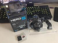 GoPro Hero 5 Black - 32GB SD - GoPro Suction Cup NEW