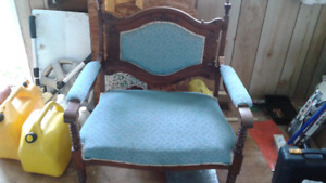 Love seat and rocking chair. .antique