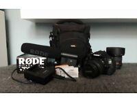 Canon EOS 600D bundle (2 lenses + video mic)