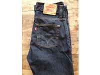 Levi 506 brand new men's jeans 32W 32L dark blue straight-fit £20