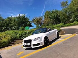 2007(07) AUDI RS4 B7 IBIS WHITE CONVERTIBLE +FULLY LOADED +BUCKET SEATS +SATNAV+ 500BHP FACELIFT DCS