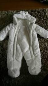 White snow suit
