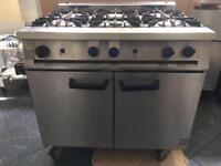 Commercial 6 Burner Gas Cooker
