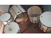 Set of Five Toma Drums and stands