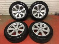 2011 mercedes 16 inch alloy wheels with tyres good condition