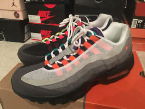 """Nike Air Max 95 """"Greedy"""" """"What The"""" basketball shoes size 8.5 US"""