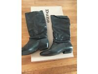 Dune black leather boots