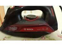 Red bosch steam iron