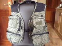 Whychwood fishing vest XL used only once. Many pockets and removable back bag