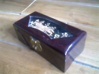 jewellery box cherry lacquer lovely condition