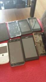 8 mobile phones for spares or repair
