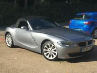 2006 BMW Z4 2.0i SE Roadster Convertible Grey only 76,620 Miles FSH SUPERB!!!!!