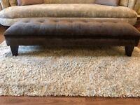 DFS Vista Footstool- Charcoal/ Grey Crushed Velvet