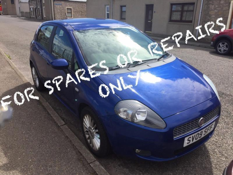 2009 09 fiat grande punto 1 3 multijet 75 gp spares or repair only in lossiemouth moray. Black Bedroom Furniture Sets. Home Design Ideas