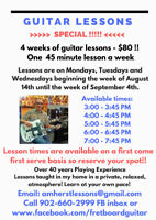 Guitar Lesson package - 4 Weeks - Amherst
