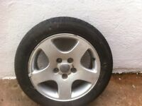 Audi A6 genuine alloys wheels with all good tyres on