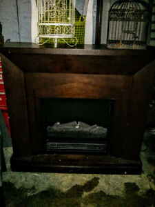 Electric Fireplace With Mantle For Sale