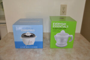 Rice Cooker and Automatic Citrus Juicer