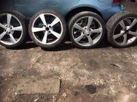 17 set of 4 stud alloys Honda ford Vauxhall