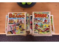 Dandy and Beano comics, all good condition from period 1993-95.