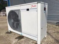 Danfoss Optima refrigeration cold store unit with GEA Searle Evaporator