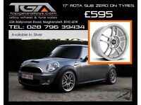 "17"" Rota Sub Zero on Tyres for a New Mini, Vauxhall Corsa, Renault Clio"