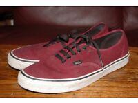 Vans Trainers, Size US 10, UK 9.5
