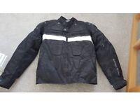Frank Thomas boys bike jacket, waterproof, black, hardly worn. Size Small (approx age 11-14)