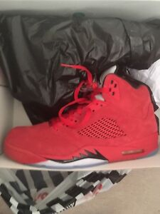 Jordan retro 5 RED SUEDE (new release) brand new in box