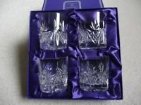 Set of four Edinburgh crystal whisky glasses