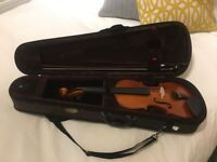 4/4 Violin with Bow, Case and Resin