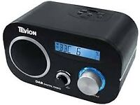 Tevion DAB and FM Clock Radio - black