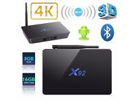 HOT X92 S912 Octa Core Android 6.0 Smart TV Box 2GB/16GB 4K 2.4/5.8GHz WIFI UK