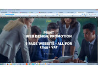 Cheap Printing and Website Design - complete 5 page site for £249 inclusive of VAT