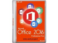 GENUINE MICROSOFT OFFICE SUITE 2016 PRO PLUS NEW ON ORIGINAL MICROSOFT DISCS WITH LIFETIME LICENCE