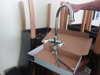 Chrome mixer tap
