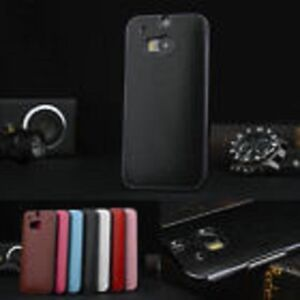 Luxury PU Leather Chromed Hard Back Case Cover For HTC ONE M9