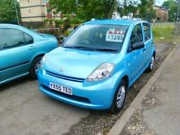 2005 daihatsu sirion 998 cc petrol ideal first car only 78.000 miles full MOT full history
