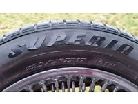 100 Spoke Wire Wheels and Tyres (x4) 225/55ZR17