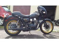 Kawasaki W800 Special Edition Black and Gold. Excellent condition. Low mileage